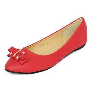YesStyle Footwear - Buckle-Bow Flats