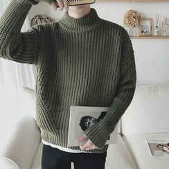 Soulcity - Mock Neck Thick Sweater