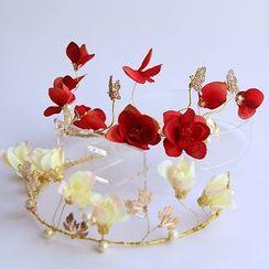 constello - Flower Faux Pearl Tiara