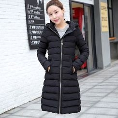Neeya - Pompom Hooded Down Coat