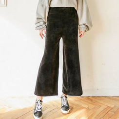 Seoul Fashion - Band-Waist Wide-Leg Pants