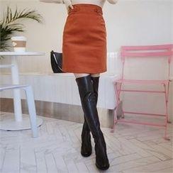 QNIGIRLS - Belted Pencil Skirt