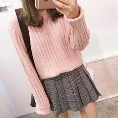 YUKISHU - Plain Ribbed Sweater