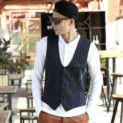 Mannmix - Pinstriped Buttoned Vest