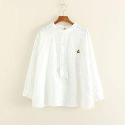 Mushi - Embroidered Half Placket Shirt