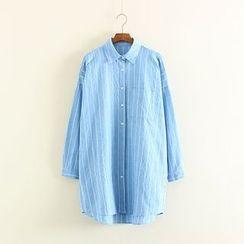 Mushi - Striped Long Shirt