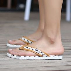 Preppy Boys - Buckled Flip-Flops