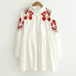 Suzette - Embroidered Shirtdress