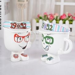 INTI - Cartoon Ceramic Cup with Lid