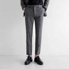 Seoul Homme - Check-Pattern Dress Pants