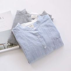 布丁坊 - 細條紋襯衫