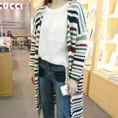lilygirl - Striped Long Cardigan