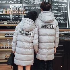INUS - Couple Matching Letter Padded Coat