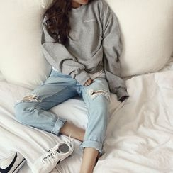 NANING9 - Cotton Embroidered Sweatshirt