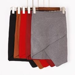 City of Dawn - Knit Wrapped Pencil Skirt