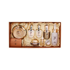 The History of Whoo - Hwa Hyeon Special Set: Cream 60ml + Balancer 25ml + Lotion 25ml + Essence 8ml + Eye Cream 5ml + Gold Ampoul 5ml + Wild Ginseng Ampule Oil 5ml + Cleansing Foam 50ml + Cotton Pad 1pc
