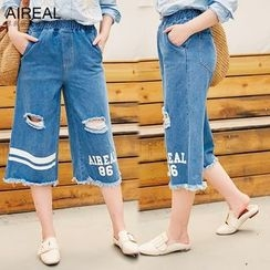 AIREAL - Cropped Wide Leg Jeans