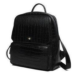 Princess Carousel - Croc-Grain Pattern Backpack