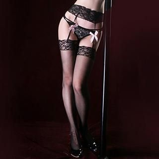 Night Wish - Lace Garter & Stockings