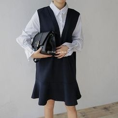THESUMEY - Mock Two-Piece Dress