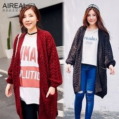AIREAL - Cable Knit Long Cardigan