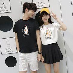 Azure - Couple Matching Print T-Shirt