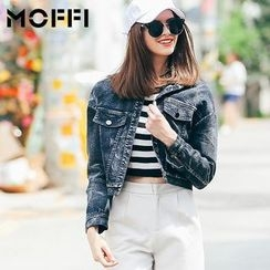 MOFFI - Cropped Denim Jacket