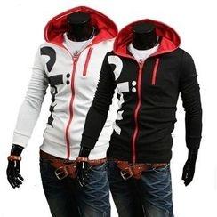 Aozora - Lettering Hooded Zip Jacket