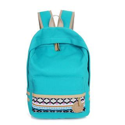 Crystal - Print Panel Canvas Backpack