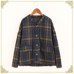 Fairyland - Plaid Buttoned Jacket