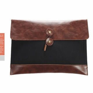 K-Style - Faux-Leather Panel Envelope Clutch