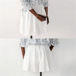 ZIZIBEZIRONG - Band-Waist A-Line Shorts