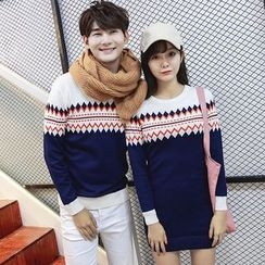 CASSY - Couple Matching Patterned Sweater