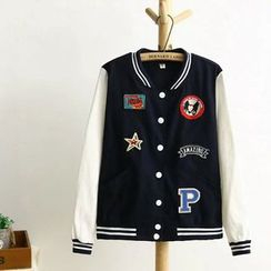 TOJI - Appliqué Button Jacket