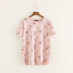 Mushi - Floral Print Short-Sleeve T-Shirt