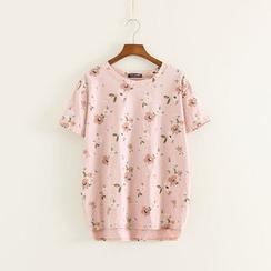 三木社 - 短袖碎花T恤