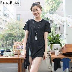 RingBear - Asymmetric Hem Short Sleeve Tee