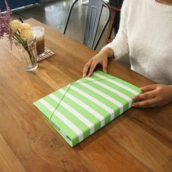 BABOSARANG - Striped Document Folder with Punch (L)