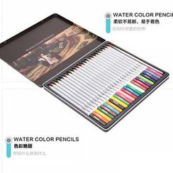 Bookuu - Set of 24: Watercolor Pencils
