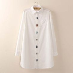 Tangi - Embroidered Long-Sleeve Blouse