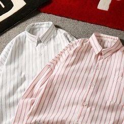 Soulcity - Pinstripe 3/4-Sleeve Shirt