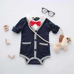 MOM Kiss - Baby Bow Tie Bodysuit