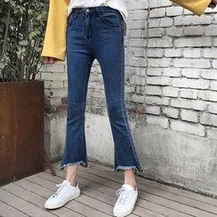 Hazie - 散摆靴型牛仔裤
