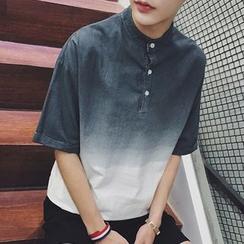 NINETTE - Short-Sleeve Gradient Polo Shirt