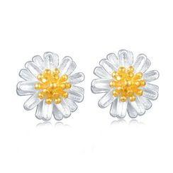 MBLife.com - 925 Sterling Silver Flower Earrings