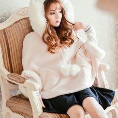 Altalena - Faux Fur-Trim Fleece Cape