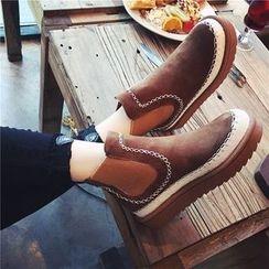 QQ Trend - 配色边厚底及踝靴