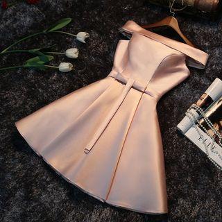 Remme - Off-Shoulder Mini Prom Dress