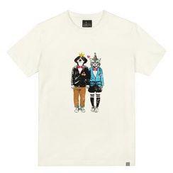 the shirts - Dog & Cat Print T-Shirt