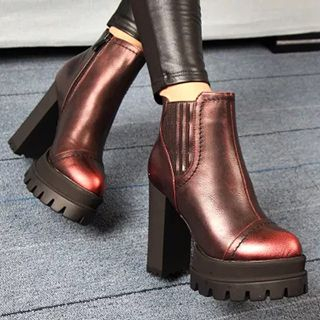 Forkix Boots - Chunky Heel Platform Ankle Boots